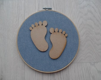 Baby footprint wall hanging