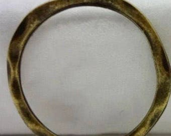 6 Pieces - Antique Bronze Circle Charm 24x24mm F7