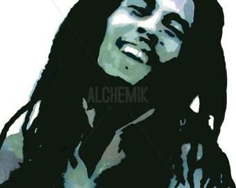 Bob Marley Illustration (print)