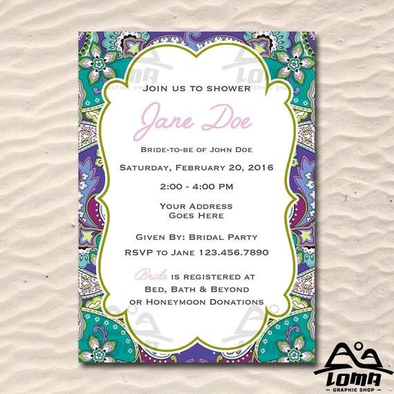 Vera Bradley Inspired Bridal Shower, Bridal Shower, Flower Bridal Shower, Purple Bridal Shower