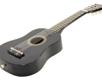 "25"" Children's Kids Toy Acoustic Guitar Black with Bag and Accessories"