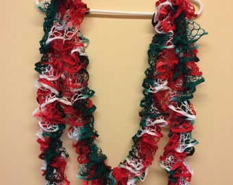Long Hand KNITTED RUFFLE SCARF Fashion Starbella Women's Accessory - Christmas