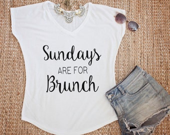 Sundays are for brunch, graphic tee, sundays are for