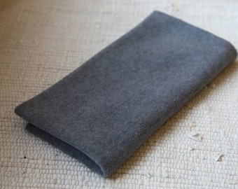 Fleece/pile fabric. 50x50 cm. Grey colour. Grey pile. Soft pile. Pile for plush toys, dolls.