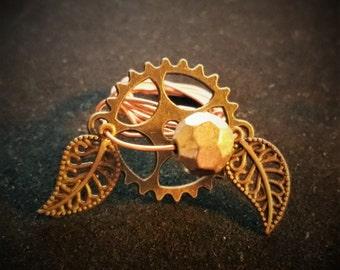 Steampunk Copper wire Ring