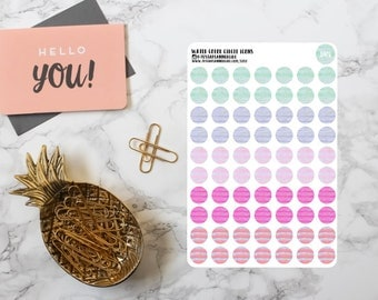 Water Color Dot Icons
