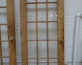 31 7/8 x 83 Antique French door Beveled Glass