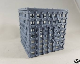 Cage w/ Door - miniature furniture for Tabletop Gaming (DnD/Pathfinder/Warhammer)