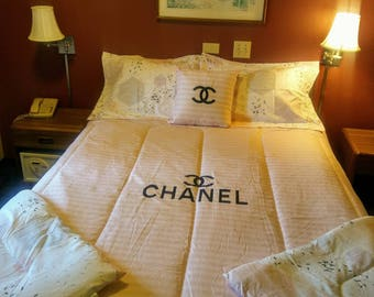 Chanel inspired 4pc bedset