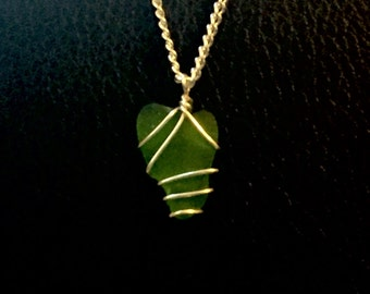 Belikin Sea Glass Wire Pendant