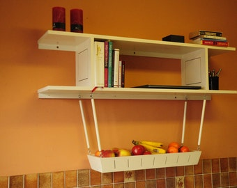 Shelf with Hanging Fruit and Vegetable Boat