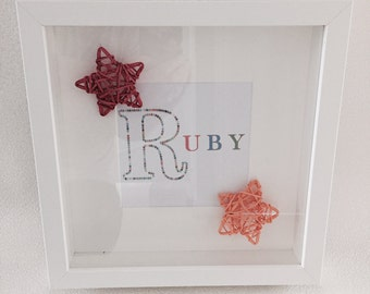 Personalised 'Star' Name Print with Frame