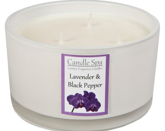 3-wick candle - Lavender & Black Pepper