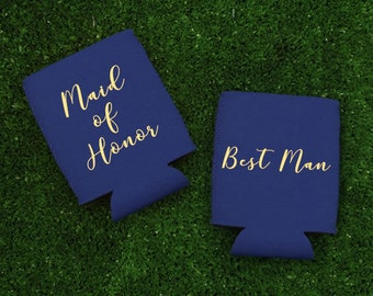 Maid of Honor Can Coolers - Best Man Can Coolers, Maid of Honor Gift - Best Man Gift