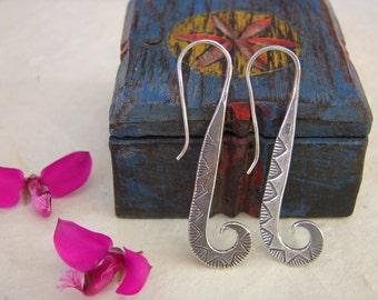 Silver Earrings. Silver jewellery. Ethnic earrings. Ethnic jewellery.