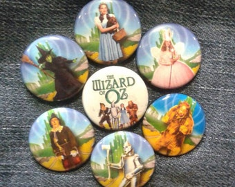 """The Wizard of Oz button set 1"""" pinback Wicked Witch Dorothy"""