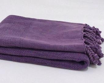 Turkish towel, mother's day gift, Turkish beach towel, Turkish peshtemal, purple stonewashed towel, trending, beach cover up, yoga towel
