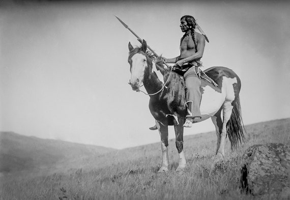 Native American Photo American Indian Riding Horse