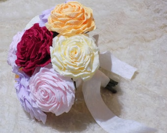 Multicoloured rose bouquet