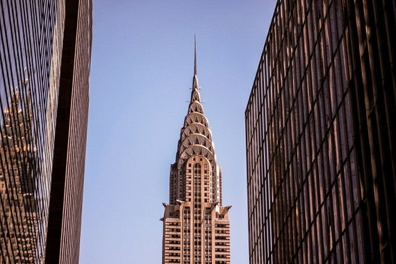 Chrysler building poster wall mural print nyc new york for Chrysler building mural