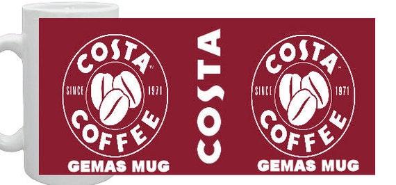 Costa Coffee Full Wrap Mug Any Name on Mug
