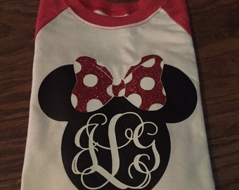 Monogrammed  Mouse Shirt
