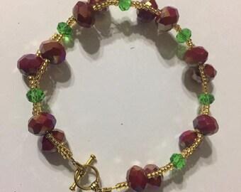Christmas berries garland bracelet