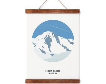 Mont Blanc Print, Chamonix,France, Mountain print, A4 Print, A3 Print, Gifts for him or her