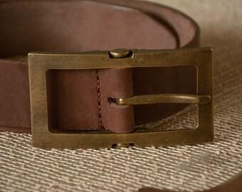 Brown Belt, Leather Belt, Mens Leather Accessories, Vintage Belt, Vintage Leather Belt
