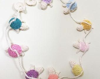 Crochet tortoise bunting