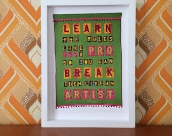 Advice From Picasso, open edition A4 print