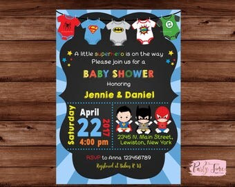 Superhero Baby Shower Invitation - Super baby shower invitation - super baby invitation - baby superhero invitation - Baby shower invitation