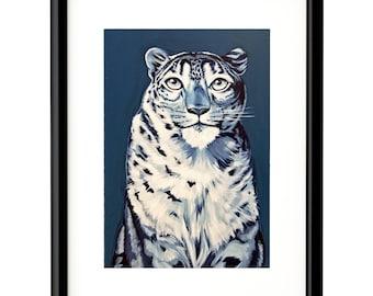 """Snow Leopard, Fine Art Print, 8""""x10"""""""
