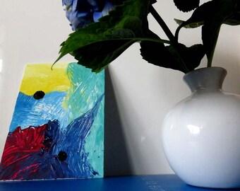 Canvas Art, Abstract Art, Painting, Mini Art, Canvas, 5x7 inch, Home Art, Office Decor, Gift Idea, Acrylic Painting