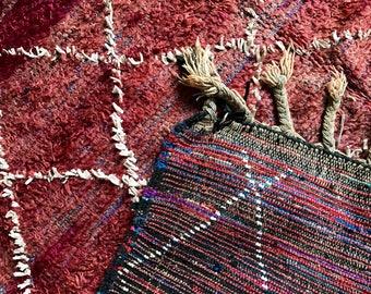 Lovely lattice desgined Moroccan rug
