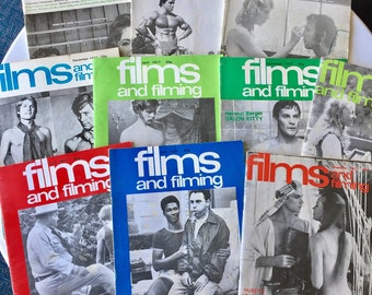 Lot of 10 1970s Film and Filming Magazines