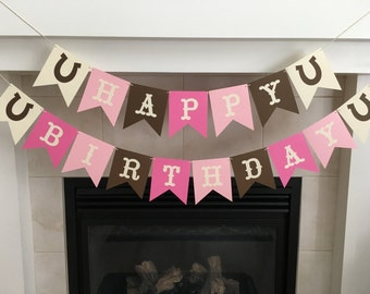 Cowgirl Birthday Banner, Happy Birthday Banner, Cowgirl Party, Cowgirl Decorations, Girl Birthday Banner, Cowgirl Themed Party, Photo Prop