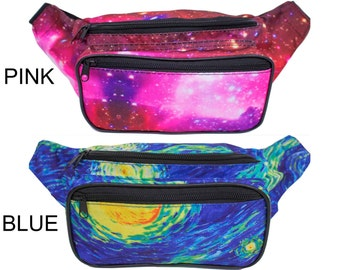 Fanny Pack Galaxy Rave Outter Space Festival by SoJourner Bags