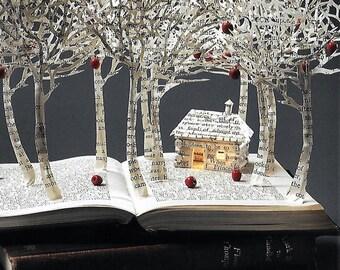Snow White Cottage 6'' x 4'' Art Postcard