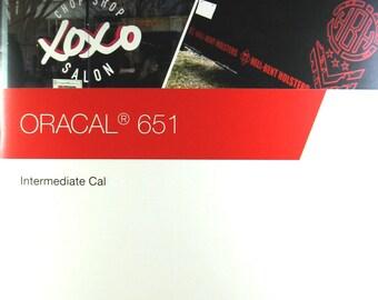 Oracal 651 Color Chart, 651 Vinyl Sheets, Adhesive Vinyl, Vinyl Sheets for Cricut, Vinyl Sheets for Silhouette, Outdoor Vinyl for Cricut