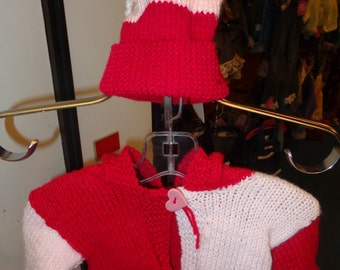 Valentine Knitted Sweater and Hat Set