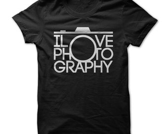 I LOVE PHOTOGRAPHY T-SHIRT.photographers t-shirt,photo hobby tee,photographers gift t-shirt,camera t-shirt,photography lovers gift t-shirt,