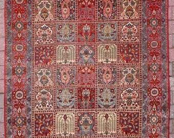GHOUM former mid 20th century PERSIAN CARPET