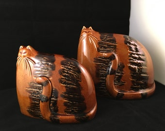Two Cats - Ceramic - Pair of Cats
