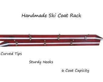 Handmade Ski Coat Rack