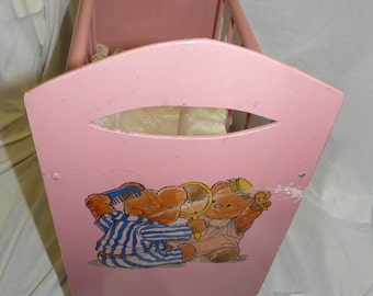 Vintage Wooden Dolly Cot - Free UK Shipping