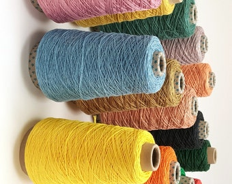 Pure Linen Weaving Yarn, Strong Smooth 100% Linen Thread, Dyed Linen Yarn for Macrame, Warp, Weaving, Machine Knitting, Crochet, Bookbinding