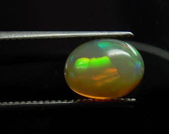 Amazing Fire Honey Color Natural Ethiopian opal oval Cabochon 10x7x4.5 MM Amazing Fire Welo Fire opal Smooth cabochon 1.70 carat F4