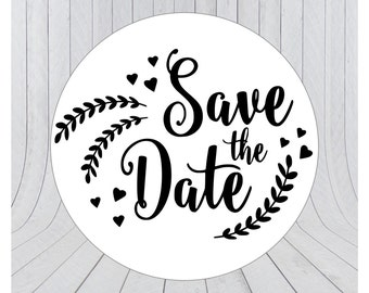24 x Save the date stickers, Engagement stickers, Save the date labels, Envelope seals, 011