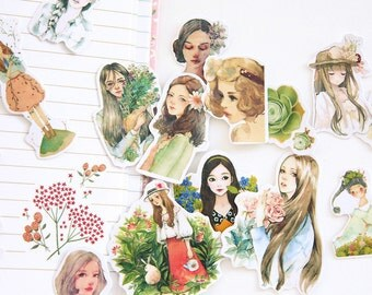 33pc sweet girl - Japanese scrapbooking stickers,scrapbooking,decorative stickers, japanese stickers,decor stickers,kawaii stickers